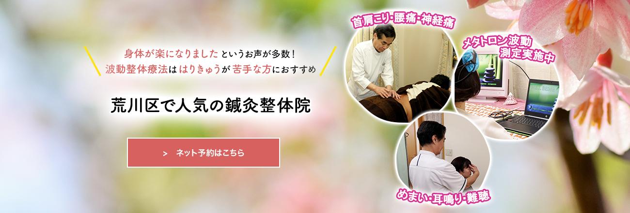荒川区西尾久で人気のはりきゅう&波動整体療法【はなぞの治療院】